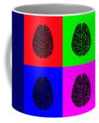 4 Brain Pop Art Panel Coffee Mug