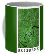 Brisbane Street Map - Brisbane Australia Road Map Art On Colored Coffee Mug