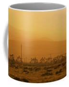 California Oil Field Under Amber Sky Coffee Mug