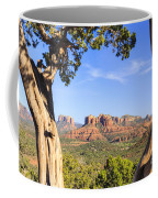 Cathedral Rock Framed By Juniper In Sedona Arizona Coffee Mug