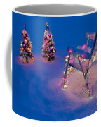 Christmas Lights On Trees And Lawn Chair Coffee Mug