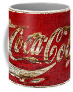 Coca Cola Sign Cracked Paint Coffee Mug