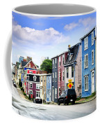 Colorful Houses In St. John's Coffee Mug by Elena Elisseeva