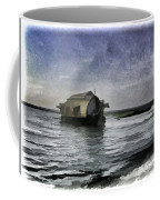 Digital Oil Painting - A Houseboat Moving Placidly Through A Coastal Lagoon In Alleppey Coffee Mug