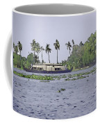 Digital Oil Painting - A Houseboat On Its Quiet Sojourn Through The Backwaters Coffee Mug