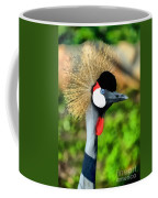 Grey Crowned Crane Coffee Mug