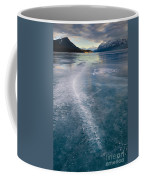 Ice Pattern On Frozen Abraham Lake Coffee Mug