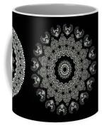 Kaleidoscope Ernst Haeckl Sea Life Series Black And White Set 2  Coffee Mug by Amy Cicconi