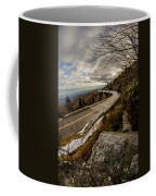 Linn Cove Viaduct During Winter Near Blowing Rock Nc Coffee Mug