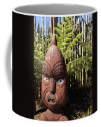 Maori Carving Coffee Mug by Les Cunliffe