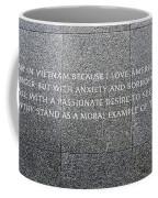 Martin Luther King Jr Memorial Coffee Mug by Allen Beatty
