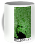 Melbourne Street Map - Melbourne Australia Road Map Art On Color Coffee Mug