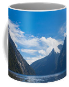 Milford Sound And Mitre Peak In Fjordland Np Nz Coffee Mug