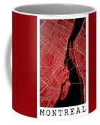 Montreal Street Map - Montreal Canada Road Map Art On Colored Ba Coffee Mug