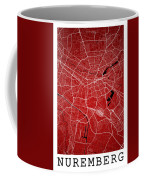 Nuremberg Street Map - Nuremberg Germany Road Map Art On Colored Coffee Mug