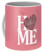 Orlando Street Map Home Heart - Orlando Florida Road Map In A He Coffee Mug