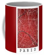 Paris Street Map - Paris France Road Map Art On Colored Backgrou Coffee Mug