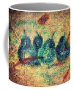 4 Pears Mosaic Coffee Mug