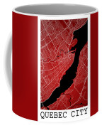 Quebec City Street Map - Quebec City Canada Road Map Art On Colo Coffee Mug
