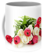 Red And White Tulips Coffee Mug by Elena Elisseeva