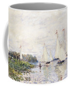 Regatta At Argenteuil Coffee Mug by Claude Monet