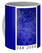 San Jose Street Map - San Jose Costa Rica Road Map Art On Colore Coffee Mug