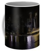 Singapore Skyline As Seen From The Pedestrian Bridge Coffee Mug