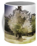 Tree With Large White Flowers Coffee Mug