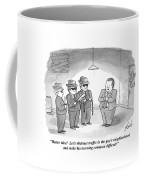 Better Idea! Let's Obstruct Traffic In The Guy's Coffee Mug by Tom Toro