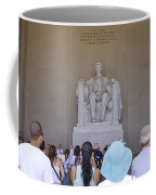 Visitors At The Lincoln Memorial Coffee Mug
