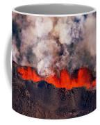 Volcano Eruption At The Holuhraun Coffee Mug