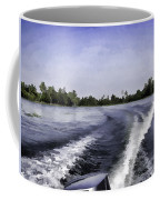 Wake From The Wash Of An Outboard Motor Coffee Mug