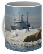 Walrus Resting On Ice Floe Coffee Mug