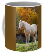 White Horse In Autumn Coffee Mug