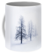 Winter Trees In Fog Coffee Mug