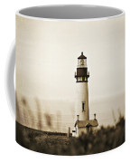 Yaquina Head Lighthouse - Sepia Texture Coffee Mug