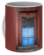 401 Blue Factory Door Coffee Mug
