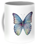 43 Blue Celestina Butterfly Coffee Mug by Amy Kirkpatrick