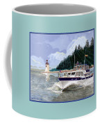 43 Foot Tollycraft Southbound In Clovos Passage Coffee Mug