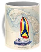 39 Foot Beneteau Cape Cod Chart Art Coffee Mug