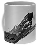 A Curtiss P-40e Warhawk In Flight Coffee Mug