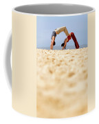A Man And Woman Practicing Yoga Coffee Mug