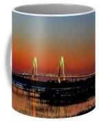 Arthur Ravenel Bridge Orange Glow Coffee Mug