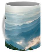 Blue Ridge Parkway Scenic Mountains Overlook Summer Landscape Coffee Mug