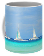 5 Boats In A Row Coffee Mug