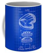 Catcher's Glove Patent 1891 - Blue Coffee Mug