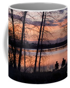 Fly Fishing At Sunset Coffee Mug