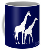 Giraffe In Navy And White Coffee Mug