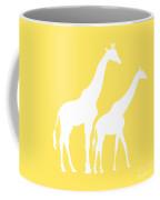 Giraffe In Yellow And White Coffee Mug