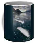 Ice Pattern On Frozen Abraham Lake Coffee Mug
